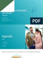Making the Best Use of Unlicensed Spectrum Presentation