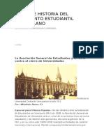 Origen e Historia Del Movimiento Estudiantil Venezolano