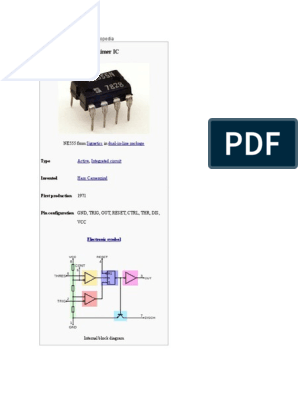 Ic 555 Timer | Computer Engineering | Electrical Components