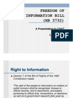 FREEDOM OF INFORMATION BILL (HB 3732)