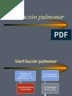 Ventilacion y Circulacion Pulmonar 1