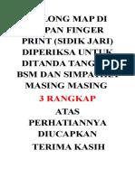 Tolong Map Di Depan Finger Print