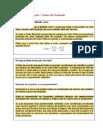 Exercícios de Fixação - Custos de Produção (Economia) - Gabarito