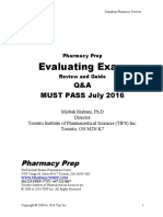 PEBC evaluating exam mustpass - Misbah- 2016