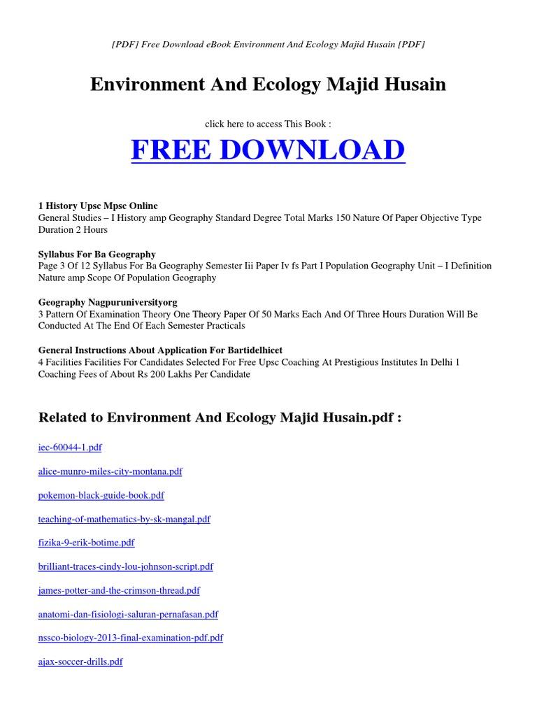 Environmental Studies Kaushik Ebook