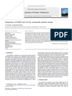 Integration of ECQFD and LCA for Sustainable Product Design 2010 Journal of Cleaner Production