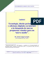 Tecnología, diseño periodístico y ediciones digitales en internet