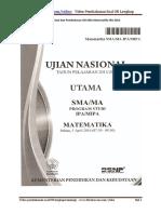 Soal Dan Pembahasan UN SMA Matematika IPA 2016