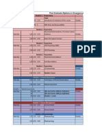 EMS Time Table