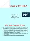 Introduction to CS