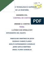 Exp 2.4 de Control de Costos
