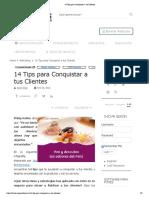 14 Tips Para Conquistar a Tus Clientes