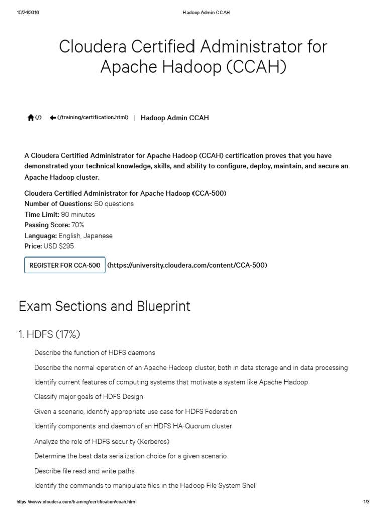 Hadoop Admin Ccahpdf Apache Hadoop Scheduling Computing