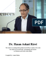 Dr. Hasan Askari Rizvi- 2016