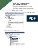 Cara Membuat User Login SQL Server 2005