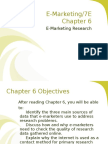Chapter 6 E Marketing Research