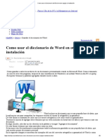 Como Usar El Diccionario de Word en Otro Equipo o Instalación
