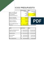 Ejercicio Presupuesto Celulares