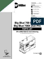 Big Blue 700X-Duo Pro-Parts Manual