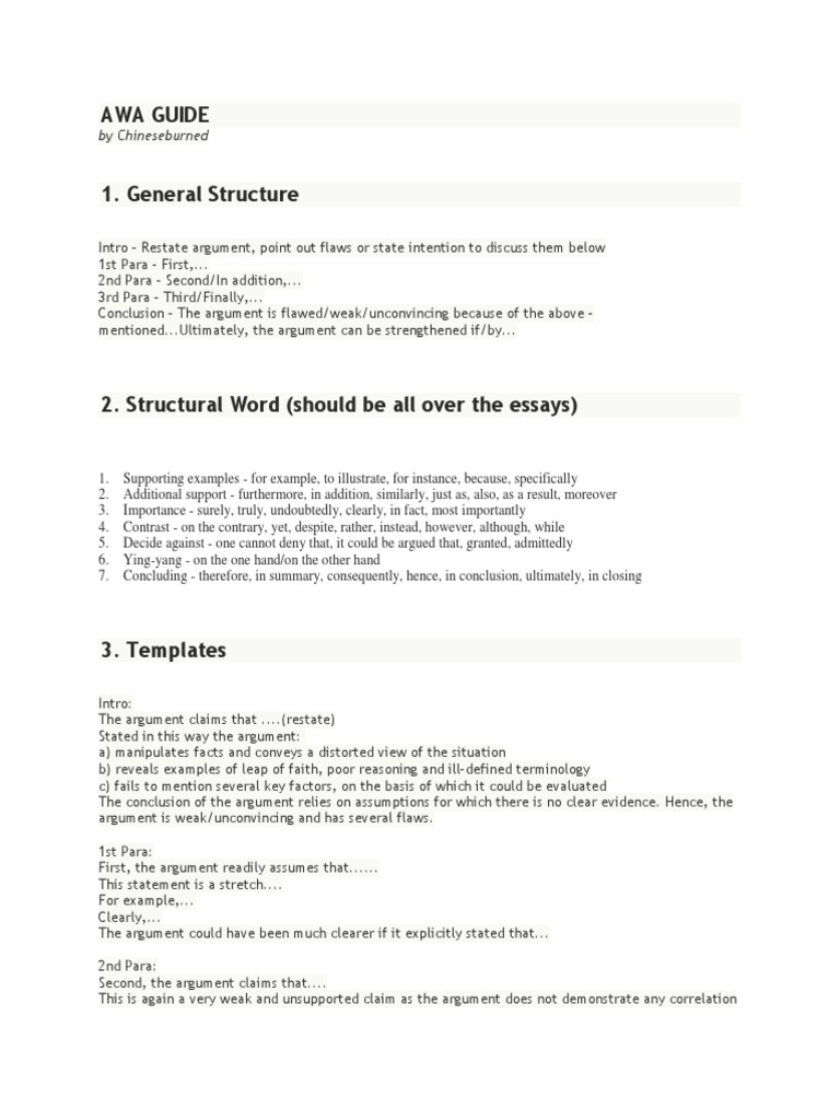 chineseburned gmat essay guide