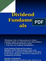 Dividend Policies