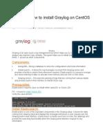 How to Install Graylog on CentOS 7 RHEL 7