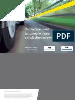 2nd Independent Automobile Dealer Satisfaction Survey