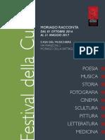 """Libretto del """"Festival della Cultura"""" 2016"""