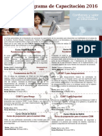 Programa de Capacitación ISACA 2016