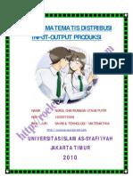 Konsep Matematis Distribusi Input