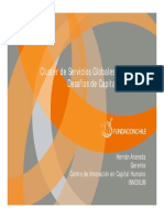 Cluster de Servicios Globales en Chile Desafios de Capital Humano