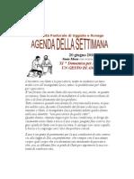 Agenda 13 Giugno
