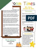 october 28 newsletter