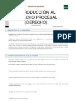 Introducción al Derecho procesal programa