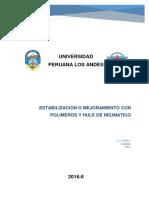 Estabilizacion o Mejoramiento Con Polimeros y Huele de Neumatico