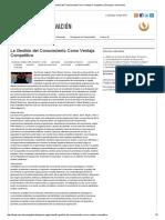 La Gestión Del Conocimiento Como Ventaja Competitiva _ Sinergia e Innovación