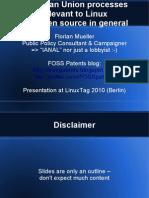 LinuxTag 2010 EU Processes Presentation