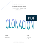 Clonacion (Biologia)