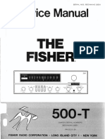 Fisher 500-T Service Manual