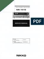 Nikko NR-1415 Service Manual