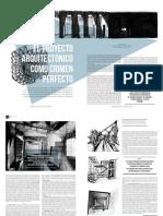 El Proyecto Aquitectónico Como Crimen Perfecto