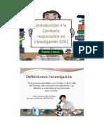 I. Introduciion a La Conducta Responsable en Investigacion