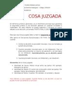 Seminario Jurisprudencia - COSA JUZGADA