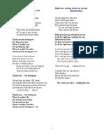 Lyrics (R)