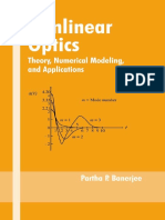 (Optical Science and Engineering) Partha P. Banerjee-Nonlinear Optics_ Theory, Numerical Modeling, And Applications-CRC Press (2003)