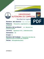 Proyectos Propuestos Campeche