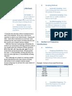 STAT2303 UARK Week 02 - Sampling Methods and Probability Distribution