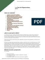 Técnica de Citología de Cérvix o Test de Papanicolaou 2011