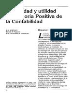 Sesión 4. Posibilidad y Utilidad de La Teoría Positiva de La Contabilidad
