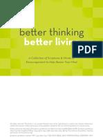 Better Thinking Better Living